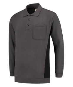Polosweater_Tricorp_TS2000_302001_Donkergrijs/zwart_